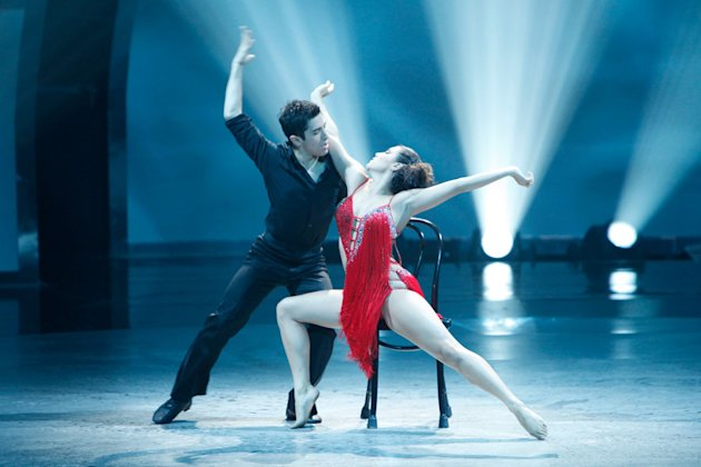 "Jess LeProtto and Jordan Casanova perform a Rumba routine to ""Set Fire To The Rain"" choreographed by Jason Gilkison on ""So You Think You Can Dance."""