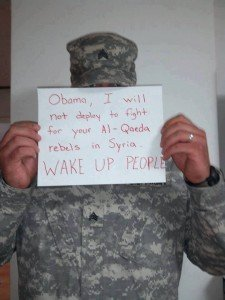 soldier syria protest