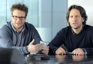 Seth Rogen and Paul Rudd | Photo Credits: Samsung