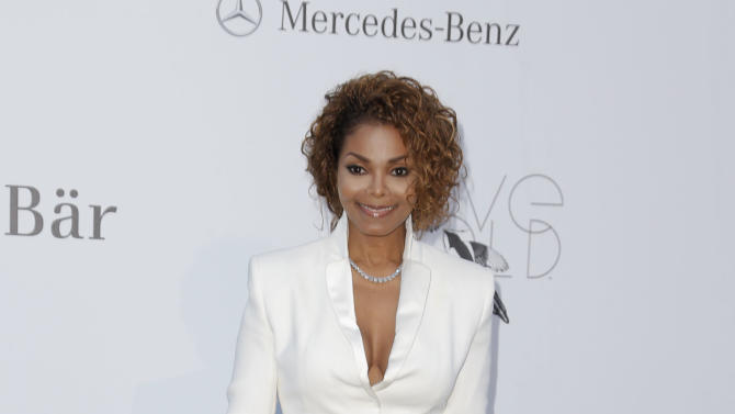 Singer Janet Jackson arrives at amfAR Cinema Against AIDS benefit at the Hotel du Cap-Eden-Roc, during the 66th international film festival, in Cap d'Antibes, southern France, Thursday, May 23, 2013. (Photo by Todd Williamson/Invision/AP)