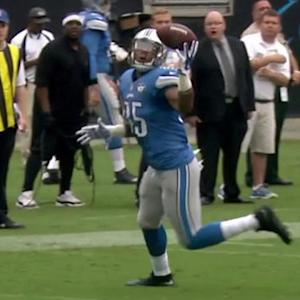 Detroit Lions tight end Eric Ebron eyes it in