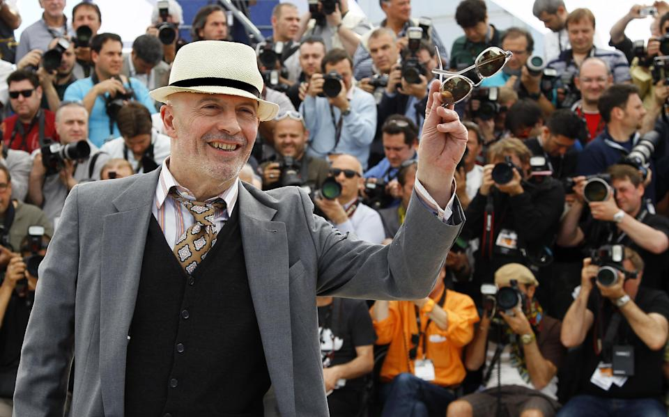 Director Jacques Audiard poses during a photo call for Rust and Bone at the 65th international film festival, in Cannes, southern France, Thursday, May 17, 2012. (AP Photo/Francois Mori)