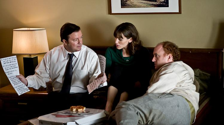 The Invention of Lying Production Photos 2009 Ricky Gervais Jennifer Garner Louis C.K.