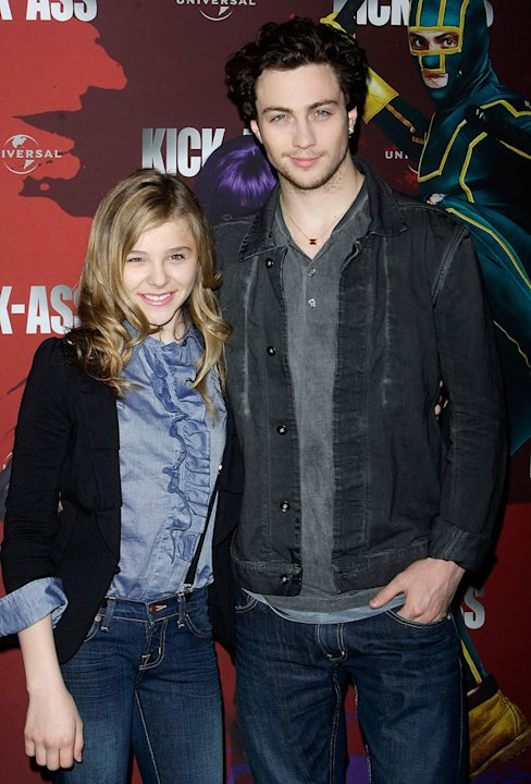 Chloe Grace Moretz 2010 Aaron Johnson