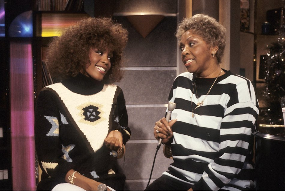 On MTV in 1986 with her mother, Cissy