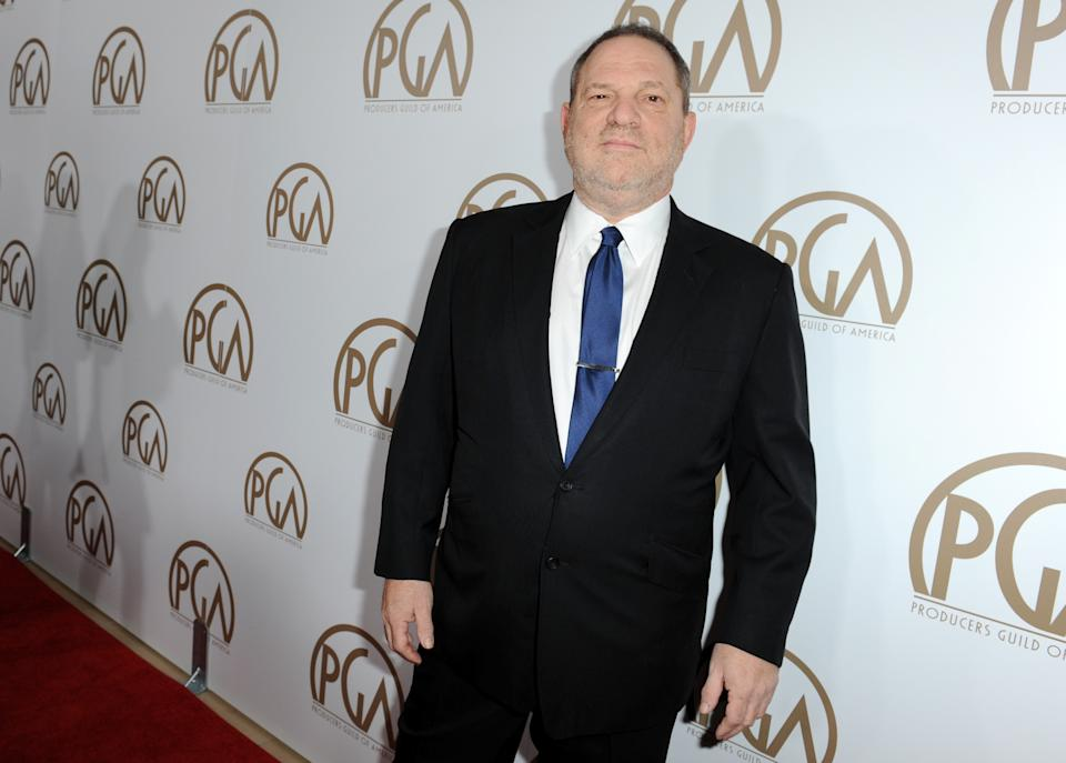 Harvey Weinstein arrives at the 24th Annual Producers Guild (PGA) Awards at the Beverly Hilton Hotel on Saturday Jan. 26, 2013, in Beverly Hills, Calif. (Photo by Jordan Strauss/Invision for The Producers Guild/AP Images)