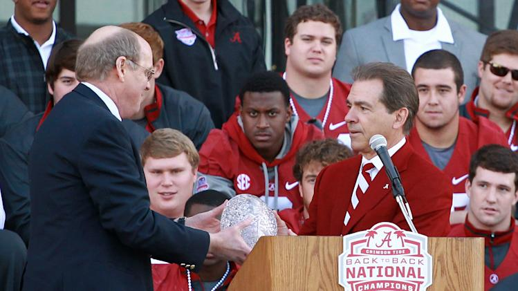 NCAA Football: University of Alabama-National Championship Celebration