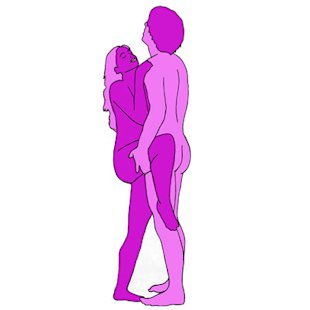 Sex position of the day: Standing-up sex. Standing-up sex requires balance, ...