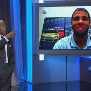 Darrell Wallace Jr. Skypes with Arsenio Following His Historic NASCAR Win