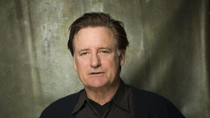"""FILE - This Jan. 18, 2013 file photo shows actor Bill Pullman from the film """"May In The Summer"""" posing during the 2013 Sundance Film Festival at the Fender Music Lodge in Park City, Utah. The film star and current U.S. president on NBC's """"1600 Penn"""" found himself a few weeks ago frantically memorizing the script for """"The Other Place"""" so he could replace the actor Daniel Stern on Broadway. He had just five days to learn his lines. (Photo by Victoria Will/Invision/AP, file)"""