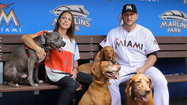 Baseball Player Won't Move Without His Dog