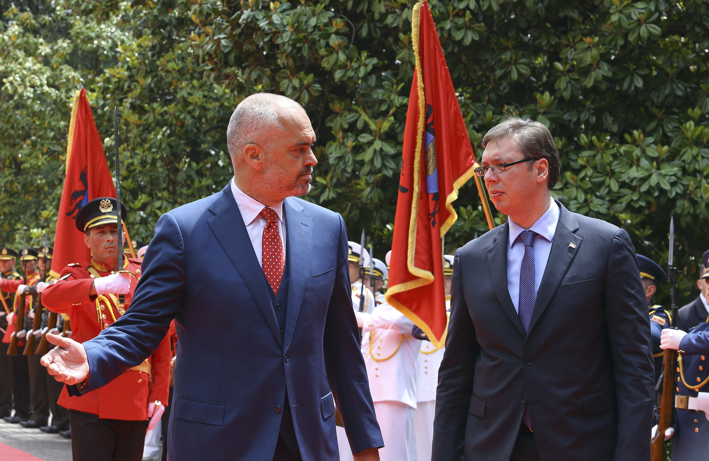 Serbian prime minister makes landmark visit to Albania