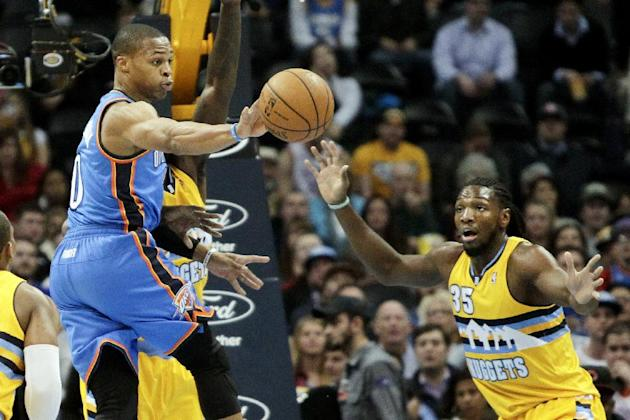 Durant, Oklahoma City beat Denver 105-93