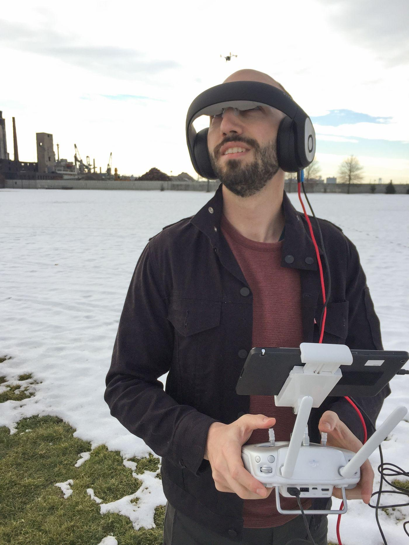 Bird's-eye view: using Avegant's Glyph headset to pilot a drone