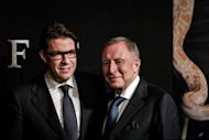 Graff Diamonds Founder and Chaiman Laurence Graff (R) and Chief Executive Officer Francois Graff during its IPO roadshow in Hong Kong on May 21. The jeweller&#39;s listing in Hong Kong will enable it to raise its profile in Asia and tap the fast-growing luxury goods market on mainland China