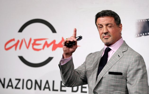 Actor Sylvester Stallone poses during the photo call of the movie &quot;Bullet to the Head&quot; at the 7th edition of the Rome International Film Festival in Rome, Wednesday, Nov. 14, 2012. (AP Photo/Andrew Medichini)