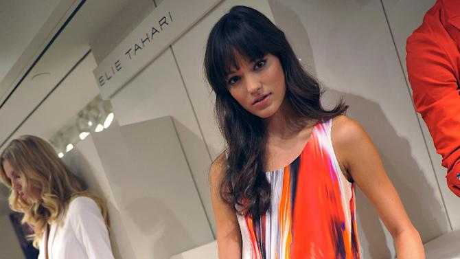 The Elie Tahari Spring 2013 collection is modeled during Fashion Week in New York, Monday Sept 10, 2012. (AP Photo/Stephen Chernin)