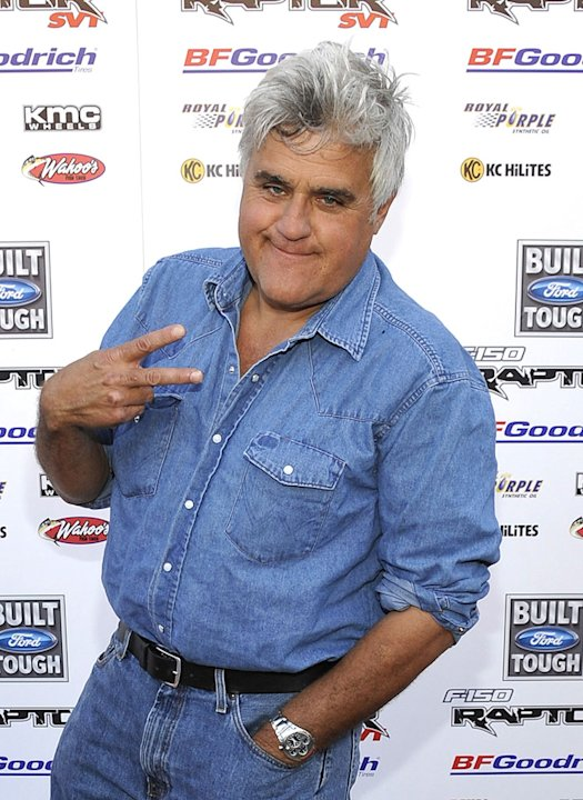 "Jay Leno arrives on the red carpet of the Los Angeles premiere of ""Raptor - Born in Baja"" at the Egyptian Theater on June 23, 2009 in Hollywood, California."