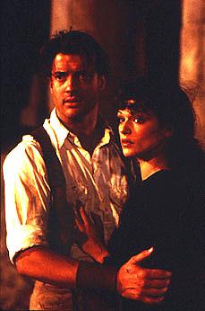 Brendan Fraser and Rachel Weisz in Universal's The Mummy