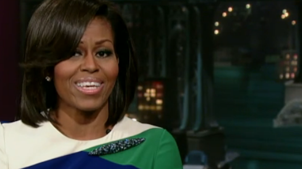 Michelle Obama Braves Letterman; Human Birdwings
