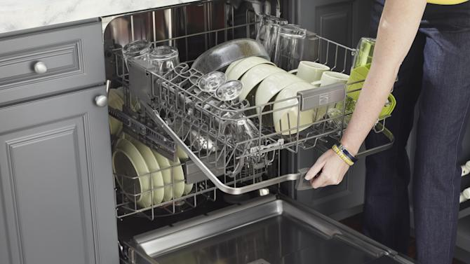 This undated product image released by Kenmore shows a Kenmore Elite Dishwasher 12793 with 360 Degree Powerwash Plus, available in stores by late May 2013. (AP Photo/Kenmore)