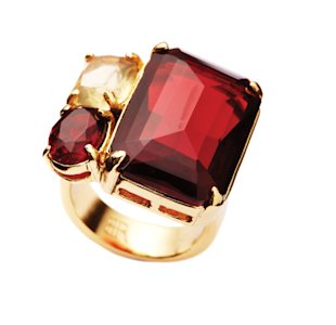 Red and gold Banana Republic ring, Jan 13, p34