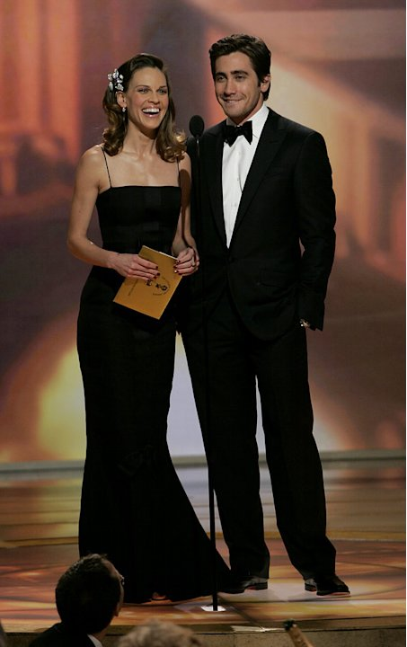 Hilary Swank and Jake Gyllenhaal at the 64th annual Golden Globe Awards.