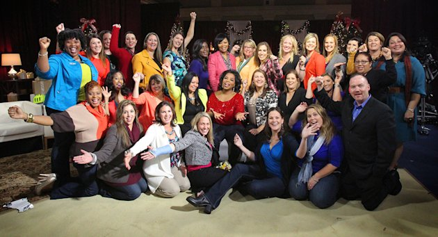 Oprah Winfrey surprises 30 military spouses, all finalists in the Military Spouse of the Year Award, with her favorite things in Washington, D.C.