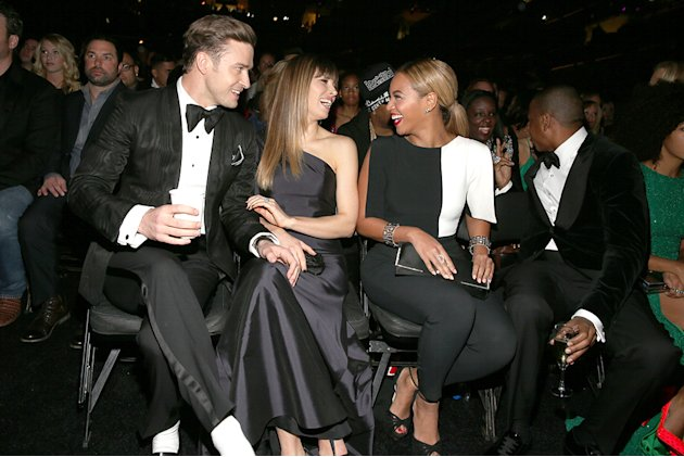 Justin Timberlake, Jessica Biel, Beyonce Knowles, Jay-Z