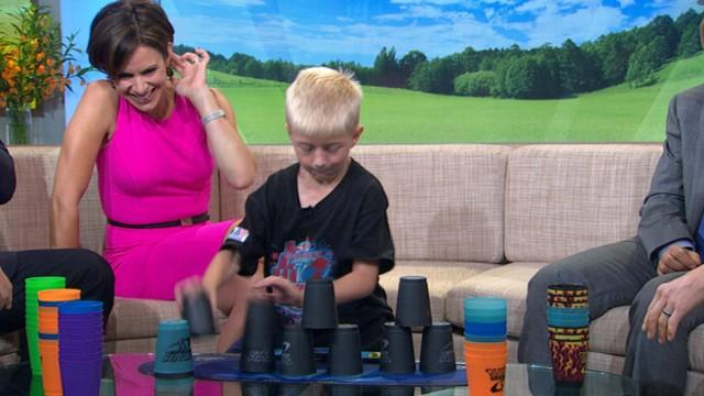 World Champion Cup Stacker, 7, Is Lightning Fast