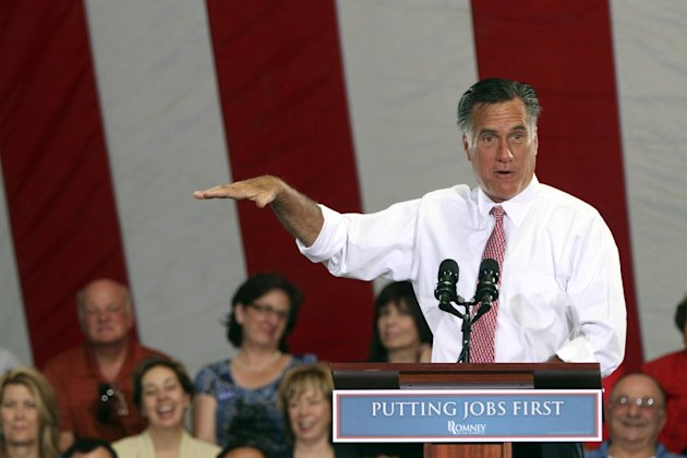 FILE - In this May 29, 2012 file photo, epublican presidential candidate, former Massachusetts Gov. Mitt Romney speaks in Las Vegas. President Barack Obama's campaign was opening a new critique of Mitt Romney's record on Wednesday, focusing attention on the Republican nominee's economic agenda while he served as governor of Massachusetts. (AP Photo/Mary Altaffer, File)
