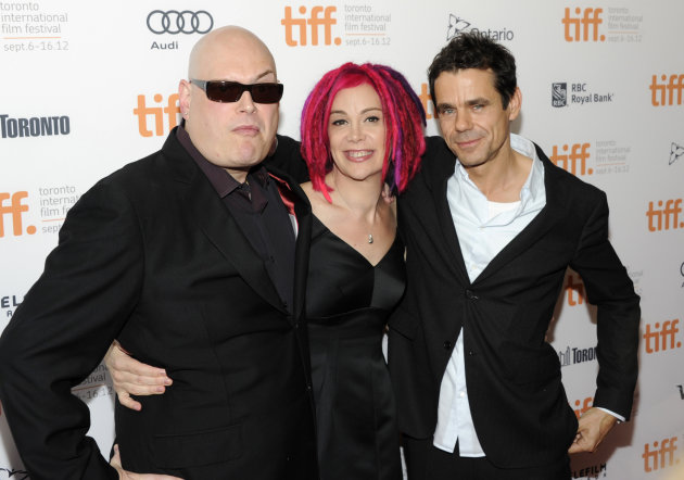 "Co-directors Andy Wachowski, left, Lana Wachowski and Tom Tykwer attend the premiere of ""Cloud Atlas"" during the Toronto International Film Festival on Saturday Sept. 8, 2012 in Toronto. (Photo by Evan Agostini/Invision/AP)"