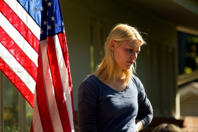 Claire Danes as CIA agent Carrie Mathison on Showtime&#39;s &#39;Homeland&#39; -- Showtime