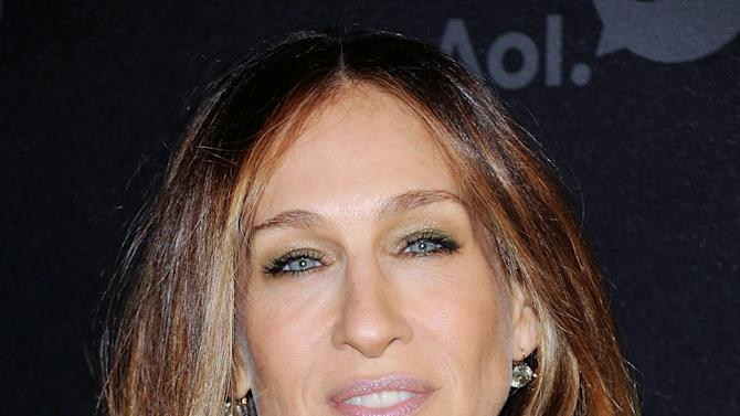 """Actress Sarah Jessica Parker attends AOL's web series """"NewFront"""" at Moynihan Station on Tuesday April 30, 2013 in New York. (Photo by Evan Agostini/Invision/AP)"""