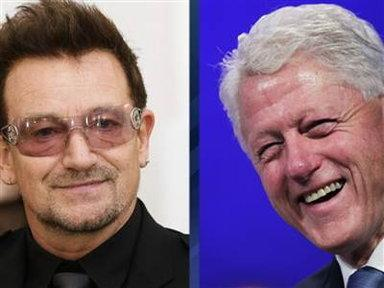 Bono Shows Off His Bill Clinton Impersonation