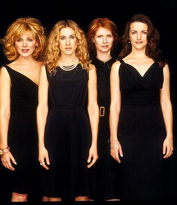 Kim Cattrall, Sarah Jessica Parker, Cynthia Nixon and Kristin Davis in Sex and the City