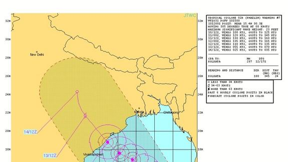 How Bad Will Cyclone Phailin Be for India?