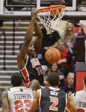 Marshall, Runnin' Rebels beat No. 15 SDSU 82-75