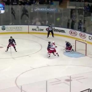 Henrik Lundqvist Save on Brad Malone (02:42/3rd)