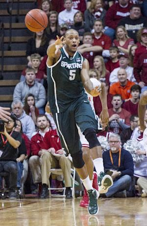 No. 5 Michigan State beats Indiana 73-56