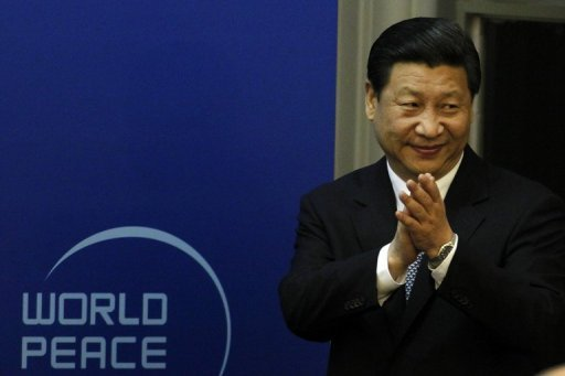 <p>Chinese Vice President Xi Jinping gestures as he attends the opening ceremony of the World Peace Forum in Beijing on July 7, 2012. A health scare was the likely reason for the unexplained absence of Xi, as secrecy surrounding the man set to become China's next leader fuelled intense speculation, experts said Tuesday.</p>