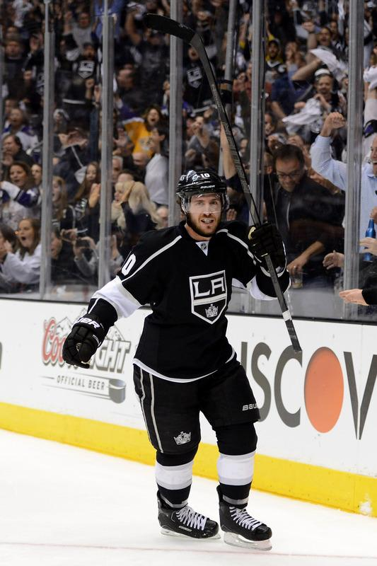 Mike Richards #10 Of The Los Angeles Kings Celebrates His Second Period Power Play Goal Against The St. Louis Blues Getty Images