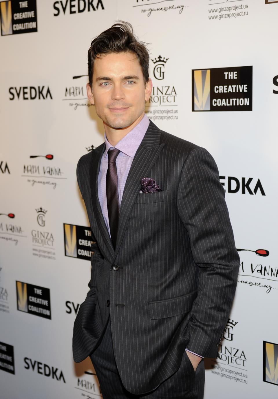 Matt Bomer arrives at the Creative Coalition Night Before Dinner on Sunday, Jan. 20, 2013, in Washington. (Photo by Nick Wass/Invision/AP)
