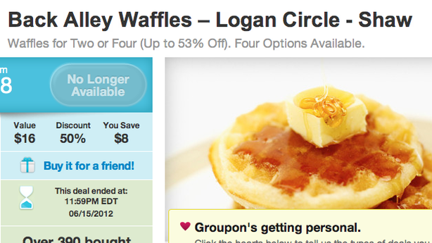 The Waffle Man Shows His Math on How Groupon Put Him in a Cash Crunch