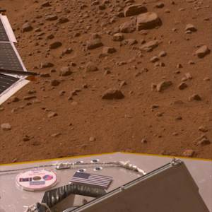 "This image provided by NASA shows a 2008 photo of a mini-DVD on the deck of the Phoenix lander on the Mars surface containing author Ray Bradbury's ""The Martian Chronicles"" and other science fiction work. Bradbury died on June 6, 2012 at age 91. The mini-DVD from the Planetary Society contains a message to future Martian explorers, science fiction stories and art inspired by the Red Planet, and the names of more than a quarter million earthlings. (AP Photo/NASA)"