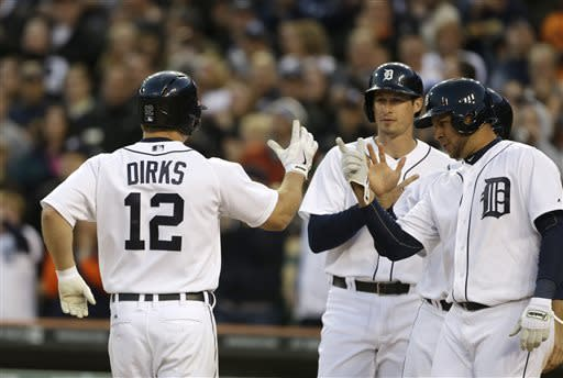 Dirks hits grand slam, Tigers beat Astros 7-2