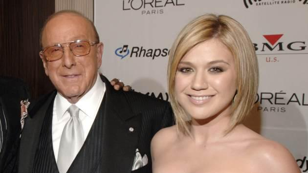 Clive Davis and Kelly Clarkson seen at the Clive Davis Pre-Grammy Awards Party in Los Angeles on February 7, 2006 -- Getty Premium