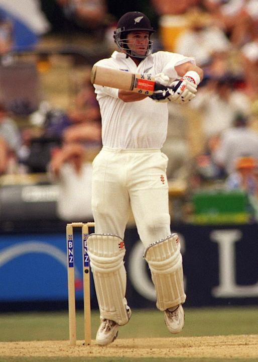 New Zealand's Chris Cairns in action batting again