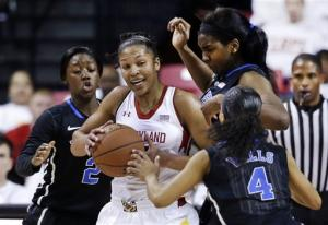 Peters, No. 5 Duke women stop No. 5 Maryland 75-59