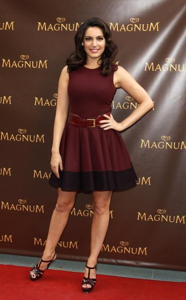 Kelly Brook poses for photos to launch Magnum's new Pleasure Pod at Magnum on July 19, 2012 in London, England. (Photo by Fred Duval/Getty Images)
